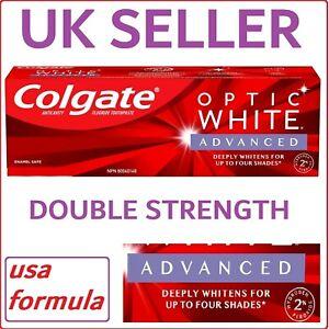 USA FORMULA Colgate Optic White ADVANCED Toothpaste High Impact Platinum Express
