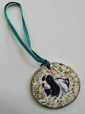 Cocker Spaniel Dog X1 Ceramic Hand Made Xmas Decoration -NEW- L@@K Choice of 2