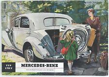 MERCEDES-BENZ TYP 170V Modell 1950 Auto-Faltprospekt OLDTIMER Daimler-Benz AG