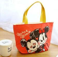 disney mickey minnie  lunch bag storage handbag tote bags anime bag new