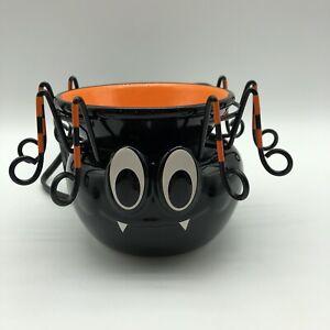 Scentsy Itsy Bitsy Wax Warmer Black Ceramic Spider Retired w/Box Halloween