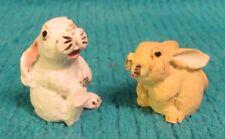 Vintage Peter Fagan Adorables Miniature from Scotland 2 Bunny Rabbits