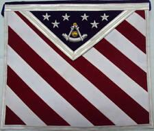 Hand  Embroidered U.S Master Mason Masonic Regalia Apron
