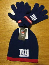 NEW YORK GIANTS REEBOK YOUTH SIZE STOCKING CAP AND GLOVES NWT
