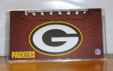 GREEN BAY PACKERS CHECKBOOK COVER # 2. NFL FOOTBALL....FREE SHIPPING