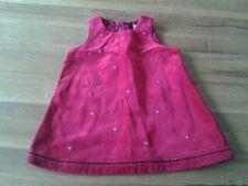 Baby Girls 3-6 months - Burgundy Embroidered Velvet Look Pinafore Dress - Next