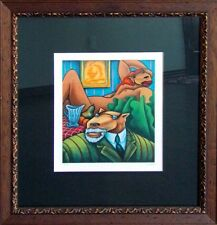"Markus Pierson ""COYOTE PORTRAIT OF MATISSE""w/Custom frame Hand Signed"