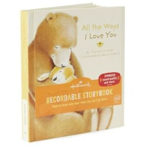 """Hallmark Recordable Storybook """"All The Ways I Love You"""" ~ Voice Save Technology"""