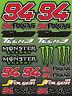 Jonas Folger 94 Folgas Decal Graphics MotoGP 22 Stickers Aufkleber Laminiert /86