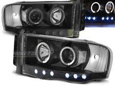 Paire de feux phares Dodge Ram de 2002 a 2006 angel eyes noir