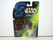 STAR WARS 1996 POTF2 WEEQUAY SKIFF GUARD MOSC US CARD KENNER