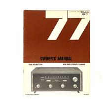 McIntosh MR 77 Original Owners Manual
