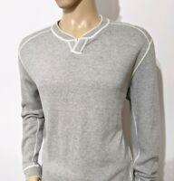 Tommy Bahama Mens Reversible Jumper Cream Grey Pure Cotton Sweater Sz L RRP£125