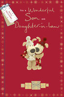 Boofle Son & Daughter-In-Law Christmas Greeting Card Cute Xmas Cards