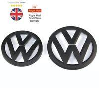 VW GOLF MK7, FRONT & REAR MATTE BLACK BADGE