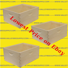 "10 Frame Unassembled Deep Hive Bodies ""3 pack"" - Free shipping"