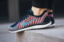 NIKE FREE 4.0 FLYKNIT Running Trainers Shoes Gym - UK 7 (EUR 41)  Black / Hyper