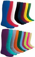 NEW! 2 Pair Solid Sport Socks Baseball Softball Football in Your Color/Size!