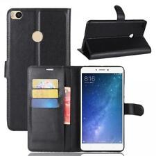 Xiaomi Mi Max 2 Cartera Funda Cover Flip Wallet Case bolsa Carcasa Negro