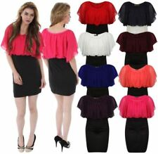 Polyester Boat Neck Casual Dresses for Women