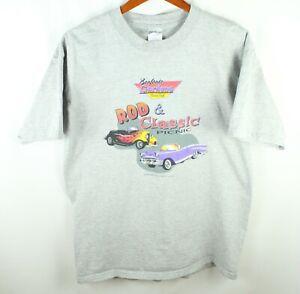 2001 Bonfante Gardens Gilroy Gray T-Shirt Size L