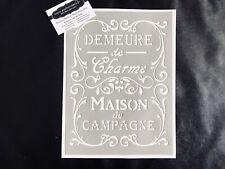 Pochoir Adhésif Réutilisable 30 x 20 cm Affiche Demeure De Charme Vintage