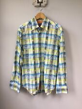 Men's Robert Graham Patterned Shirt, UK Size Large, Good Condition