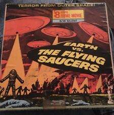 """Super 8 Cine Film """"Earth Vs. The Flying Saucers"""" 200ft B/W Silent Rare."""