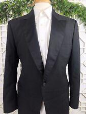 Brooks Brothers Solid Black 100% Wool Tuxedo Jacket Blazer Coat 44L