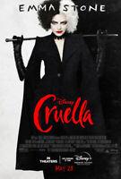 Cruella (2021) D/S Original Movie Poster 27x40 Emma Stone 101 Dalmations