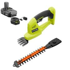 18V Cordless Grass Shear Hedge Trimmer Shrubber 1.3Ah Li Ion Battery Charger Set