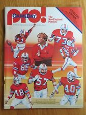 PRO! Magazine NEW ENGLAND PATRIOTS vs PITTSBURGH STEELERS 9-27-1981 BRADSHAW