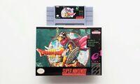 Dragon Quest 3 III - (Game / Case) SNES Super Nintendo (English Fan Translated)