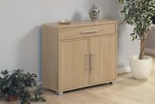 Sorento Oak Storage Cabinet 2 Door Cupboard Multi Purpose With Internal Shelf