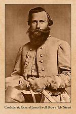 JEB STUART Confederate General CIVIL WAR VINTAGE PHOTOGRAPH CARD CDV