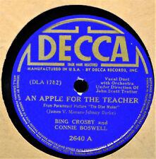 Bing Crosby Connie Boswell An Apple for the Teacher 78 Decca 2640 Still Bluebird