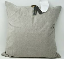 "Donna Karan Home Fuse 18"" Embroidered Duck Feather Decorative Pillow - Silver"