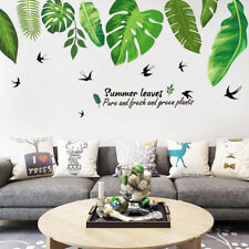 Removable Green Palm Leaves Tropical Wall Sticker Decals Vinyl Home Room Decor