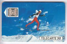 VARIETE TELECARTE FRANCE .. 50U F205a SC4 T6 SKI FOND 9N°N C1C134538 TBE C.90€