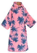 TLS  Pink Palm Microfibre Adult Poncho Surfing/ Swimming/ Triathlon