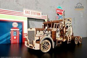 """Ugears Code: 70056 Wooden 3D Mechanical model """"Tractor unit VM-03"""""""