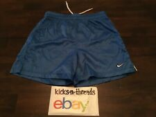 Vintage Nike Soccer Shorts Double Swoosh ( Mens Small ) Royal Blue Preowned