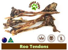 1kg KANGAROO ROO TENDONS FREE RANGE NATURAL HEALTHY HIGH QUALITY DOG TREAT