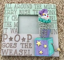 """Multi 8X8"""" Pop Goes Weasel Figurine Picture Frame Holds 3x3"""" Photo"""