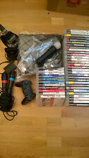 Sony PS3 SLIM 160GB +4 Controller +41 Spiele + Move +Singstar Paket GTA5 CoD #A1
