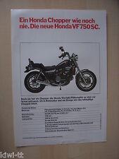 Honda vf 750 sc, prospectus/Brochure/DEPLIANT, D, 1981