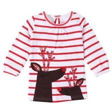 Christmas Cotton Blend Dresses (0-24 Months) for Girls