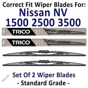 Wiper Blades 2-Pack Standard - fit 2012+ Nissan NV1500 2500 3500 - 30210x2