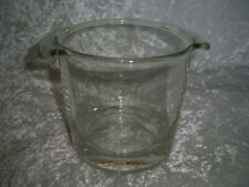Glass pot ARC France with handles on both sides