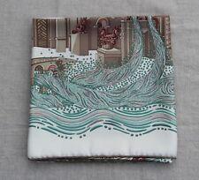 Hermes silk scarf 90 x 90 Annie Faivre Rivieres de Babel impeccable